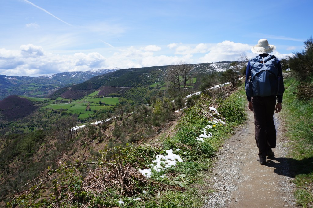 Jason hiking unencumbered in Northern Spain.