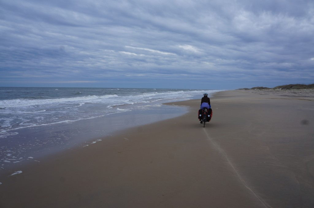 We rode along the sand towards a hidden, untouched jewel of a park.