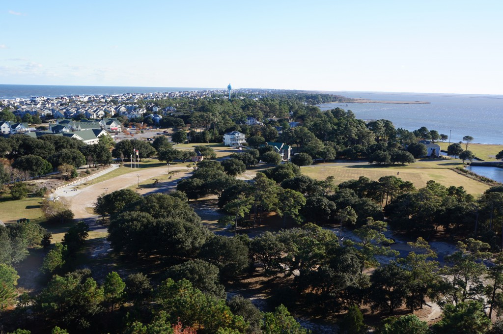 The view south from Currituck Lighthouse