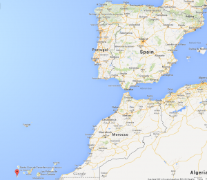 The Canary Islands - part of Spain but much farther south!