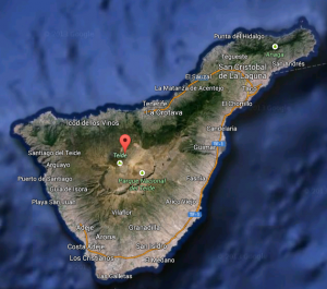 Overview of Tenerife - I spent all my time this year in the northernmost part of the island.