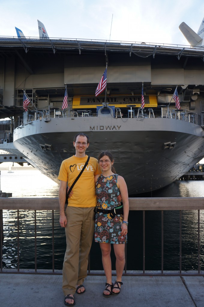 The Midway Museum - a remarkably large aircraft carrier.