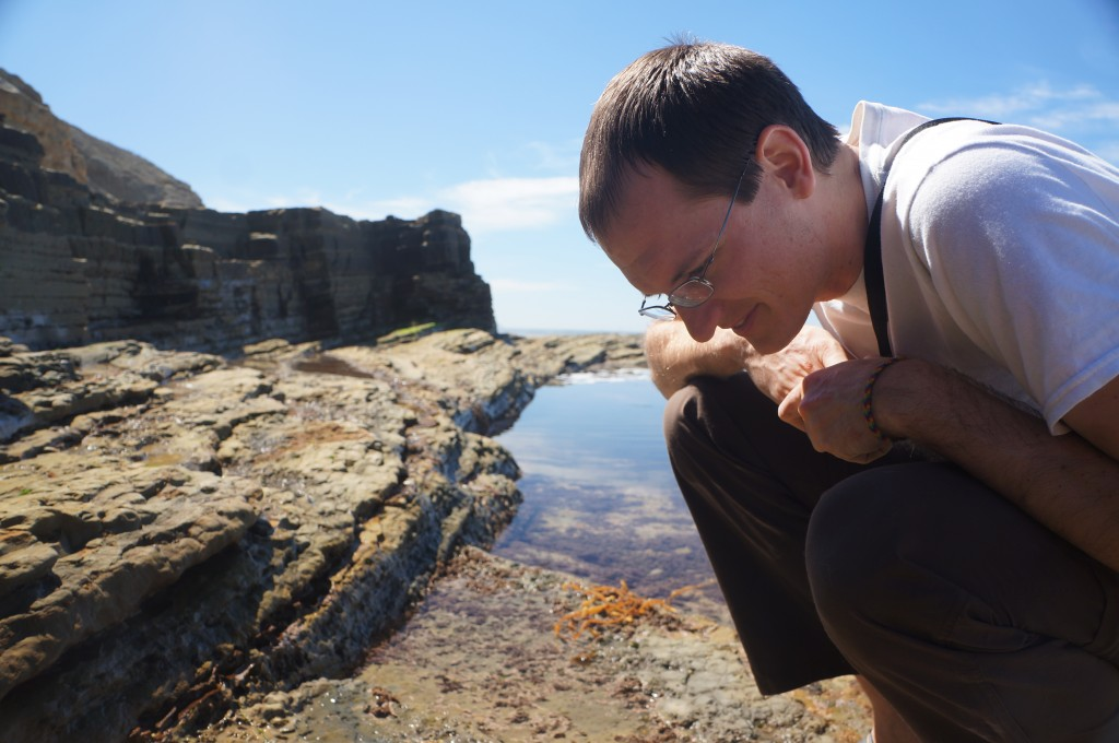 Jason loved the life in the tide pools