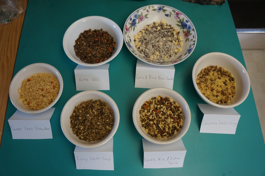dehydrated food choices