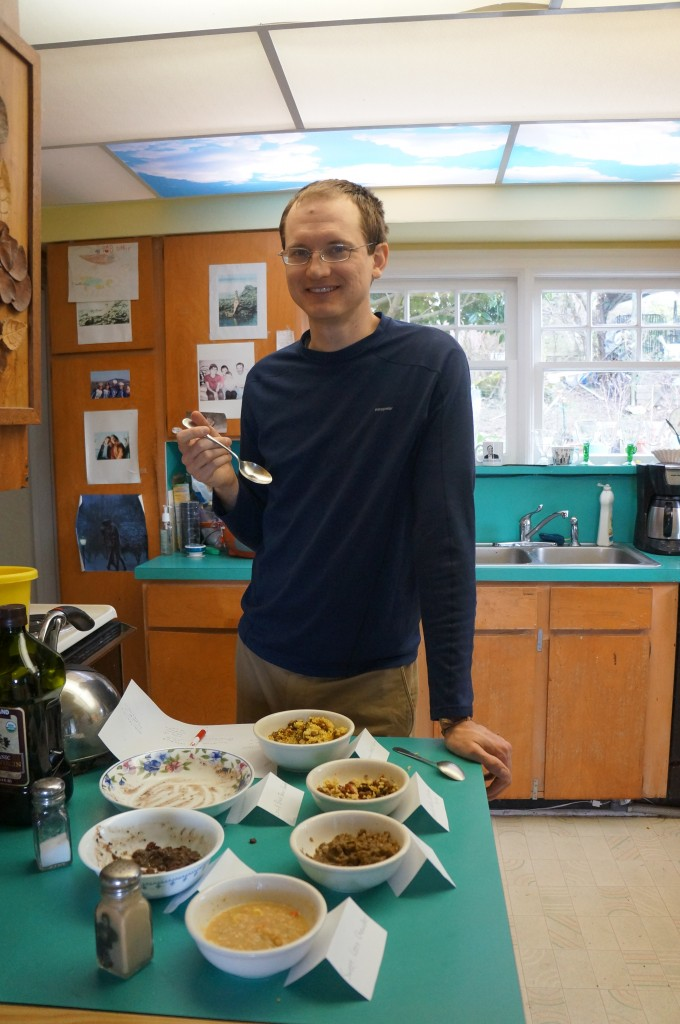 tasting the rehydrated foods