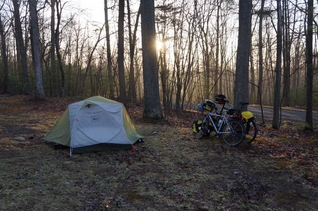 Campsite in Rothrock State Forest