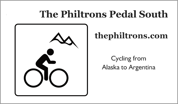 "Our cycling website ""business"" card. Go us!"
