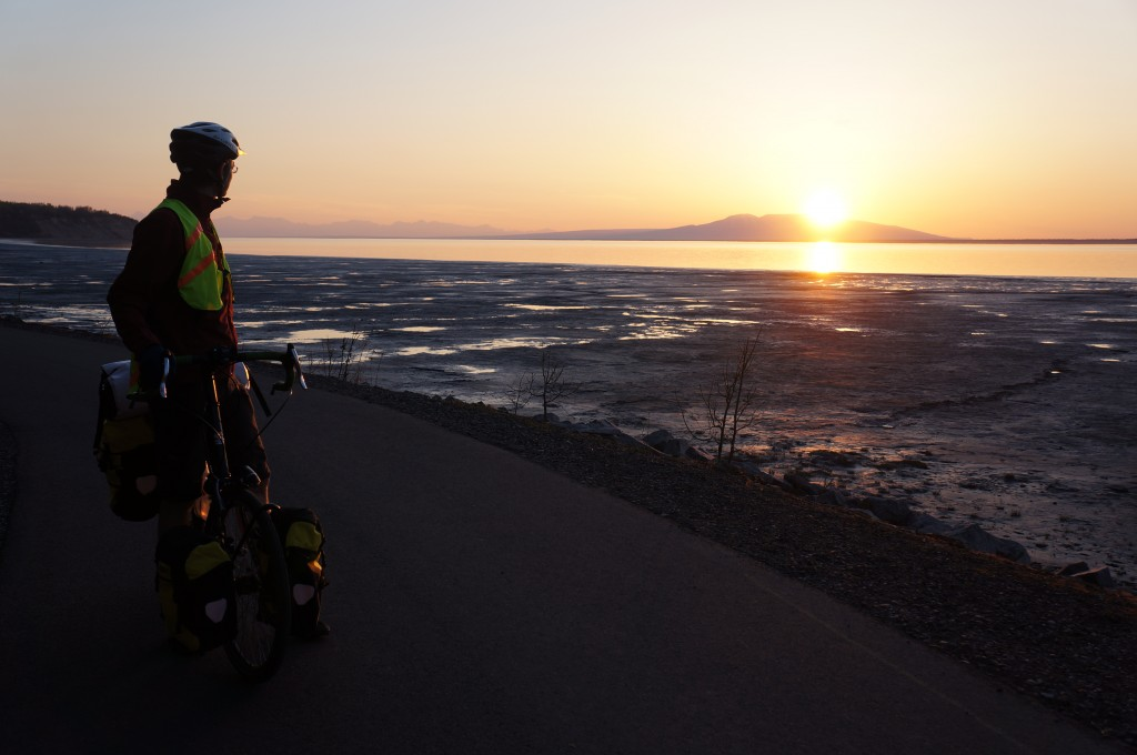 Sunset over the mud flats of Anchorage.