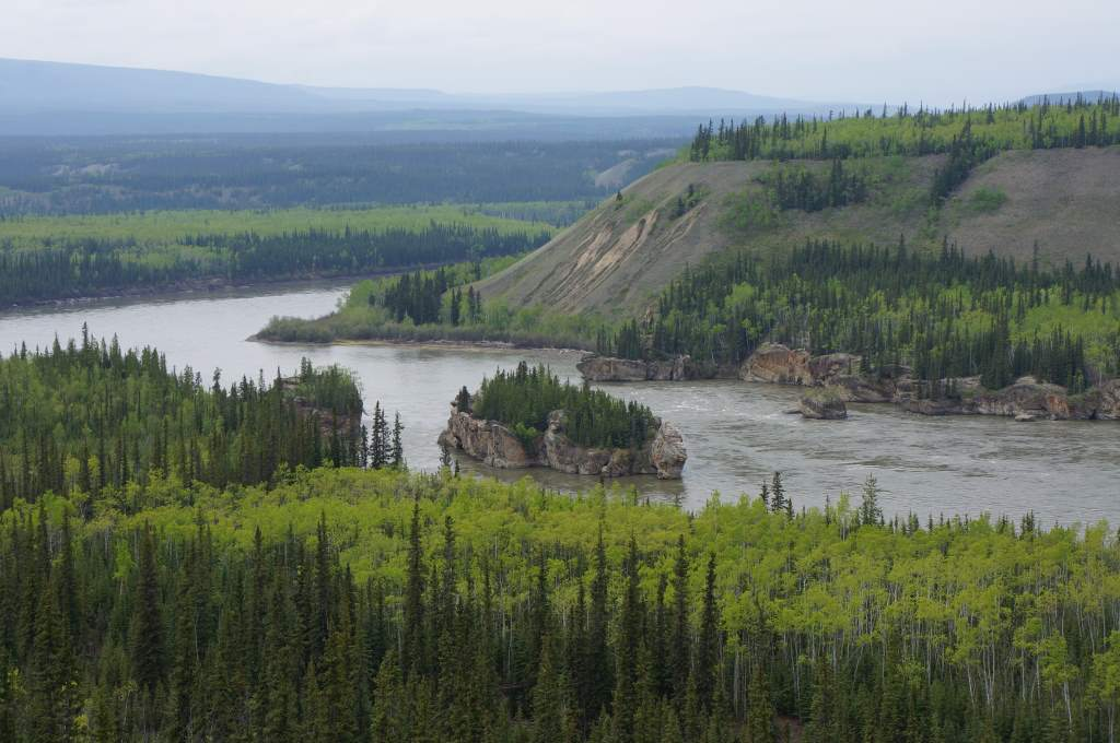 The 5-Finger rapids on the Yukon River.