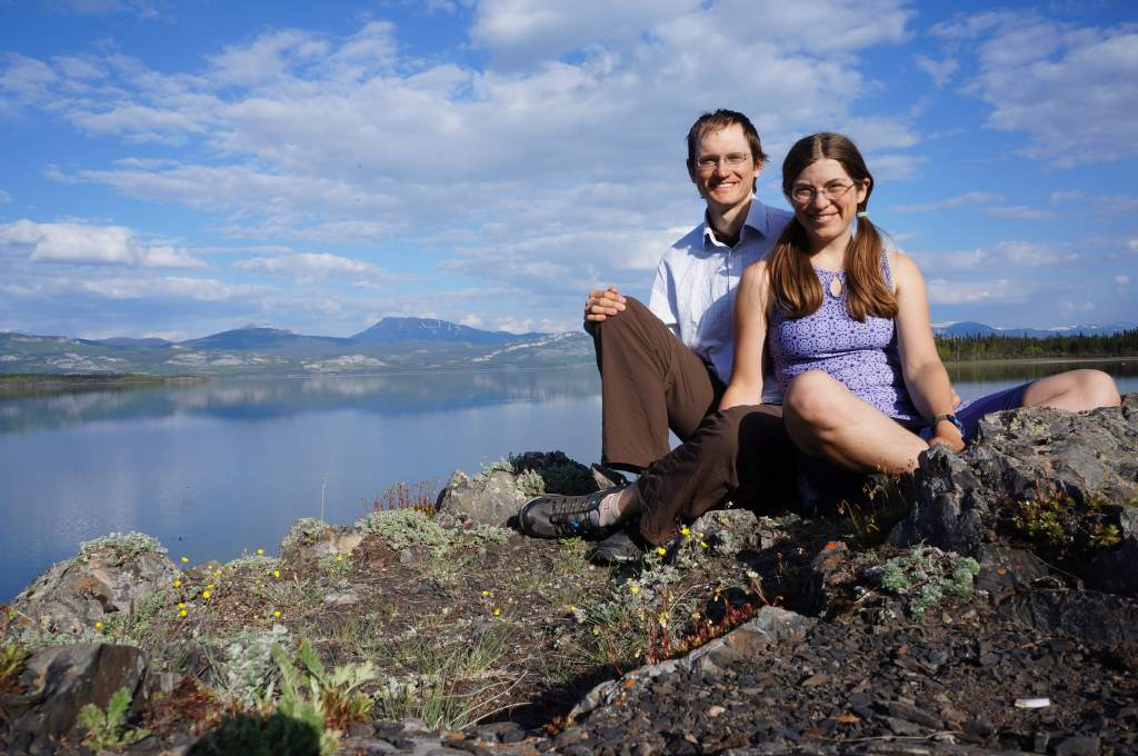 The happy couple at Lake Laberge.