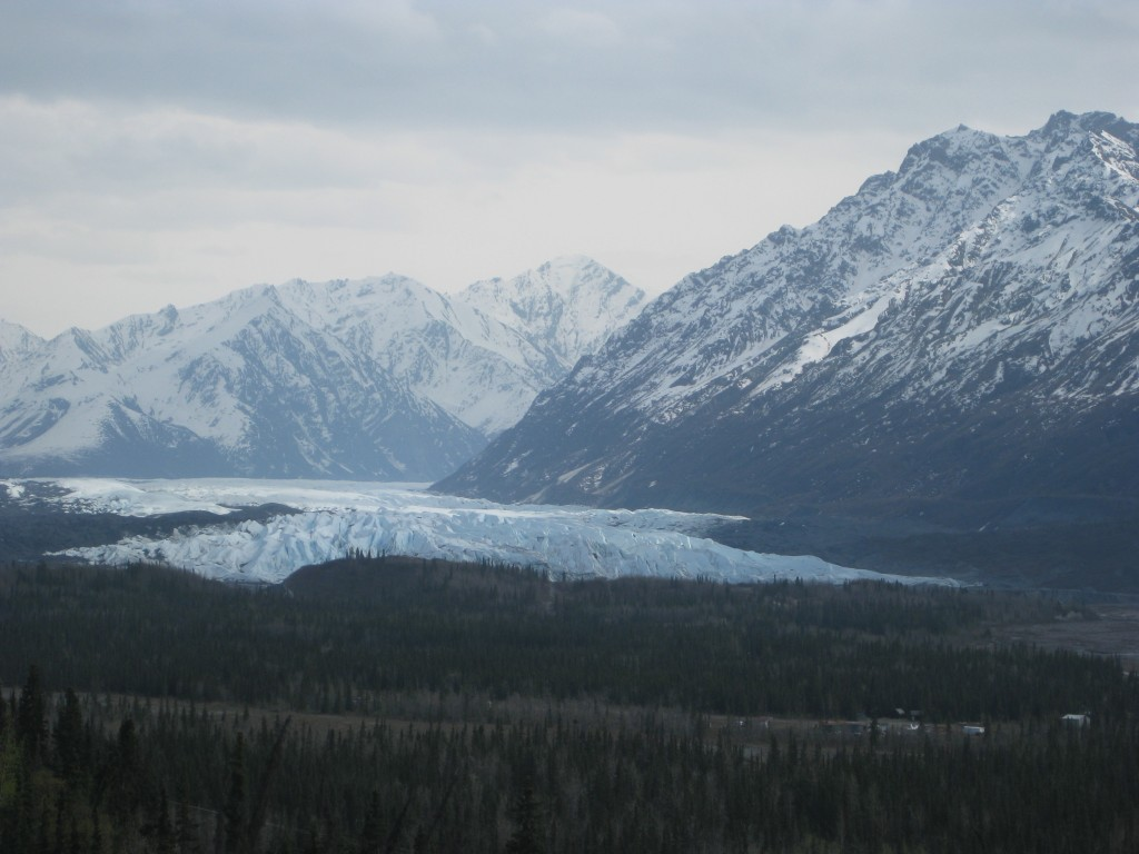 The Matanuska Glacier.  It is four miles wide at its base!