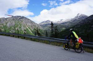 Riding up and away from Skagway.  It was beautiful!