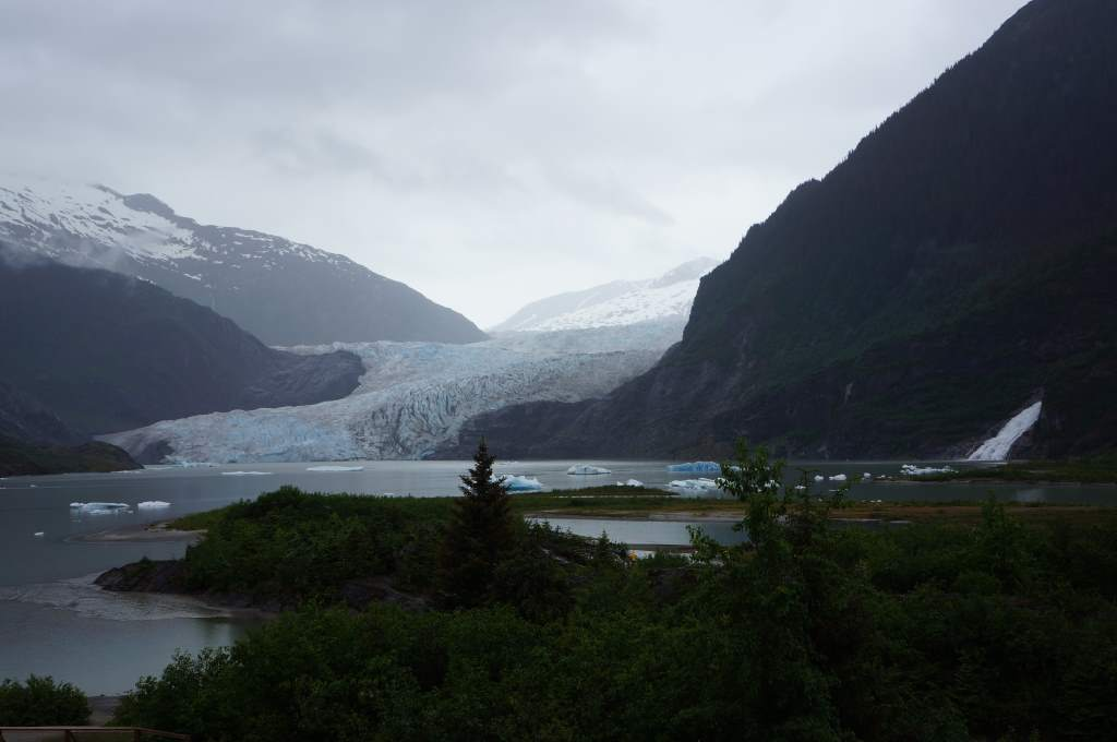 The Mendenhall Glacier - a bit of a poster-glacier for climate change.