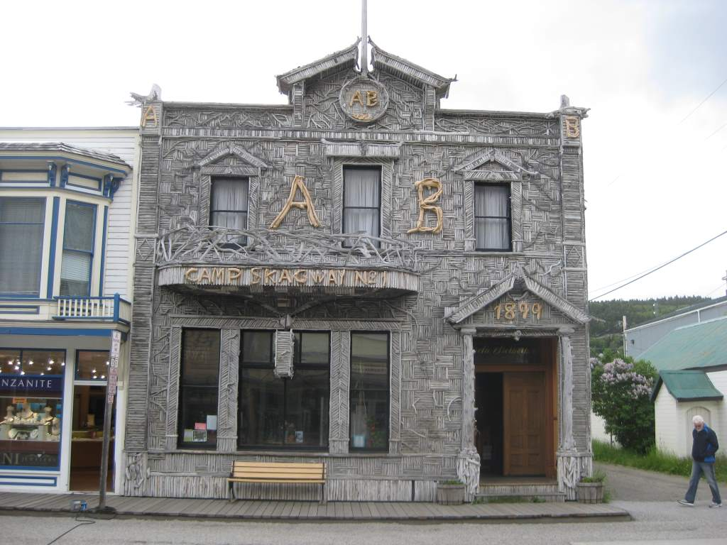 The Arctic Brotherhood headquarters - most photographed building in Alaska!