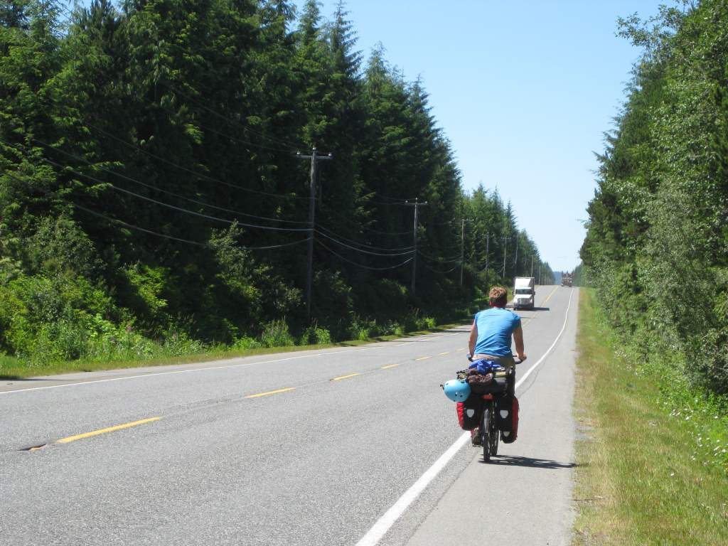 It is always fun to chat with other touring cyclists.  This one is heading to the far North.