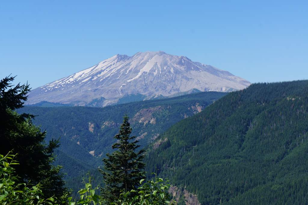 Our view of Mount St. Helens.