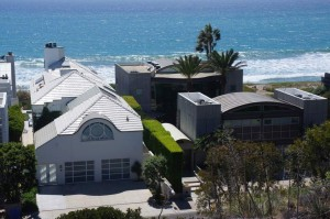 Crazy mansions along the beach in Malibu.
