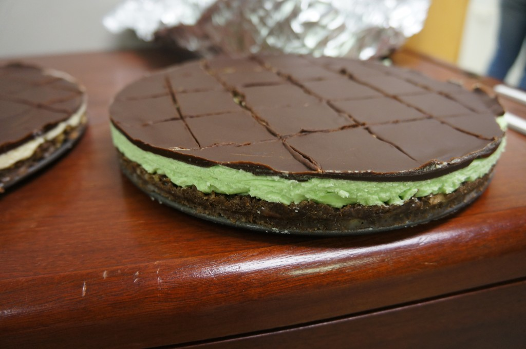 Beautiful mint bars!