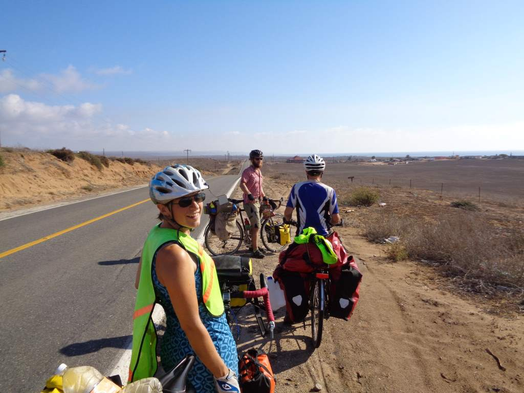 En route to El Rosario.  We caught up to our friends A and T again!