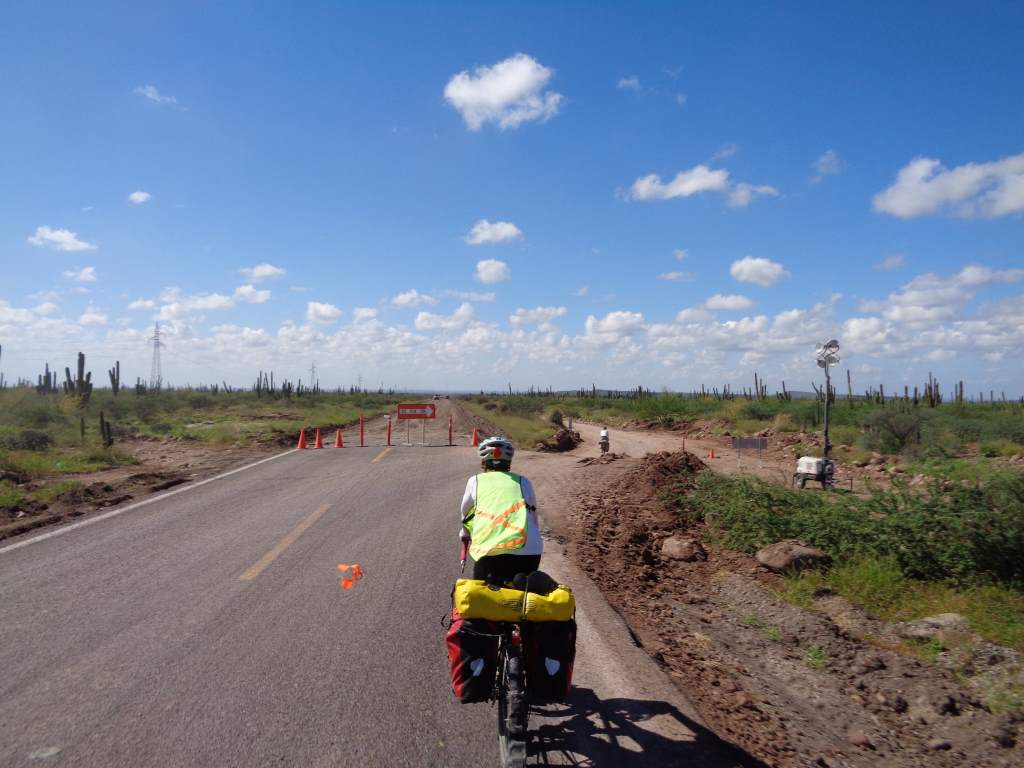 We navigated many stretches of roadwork, where all cars were diverted to a parallel dirt road.