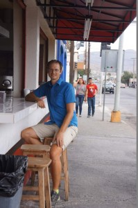 Jason at the taco stand.