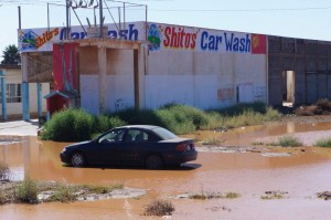 Shitos car wash.  Looks like the car in front came to the wrong place.
