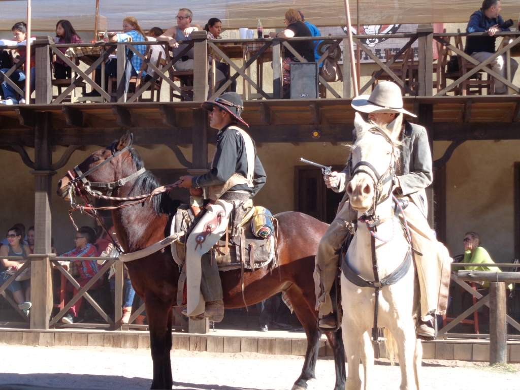 Part of the Wild West show at Viejo Oeste