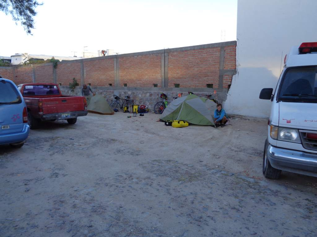 Our camp in the ambulance docks.