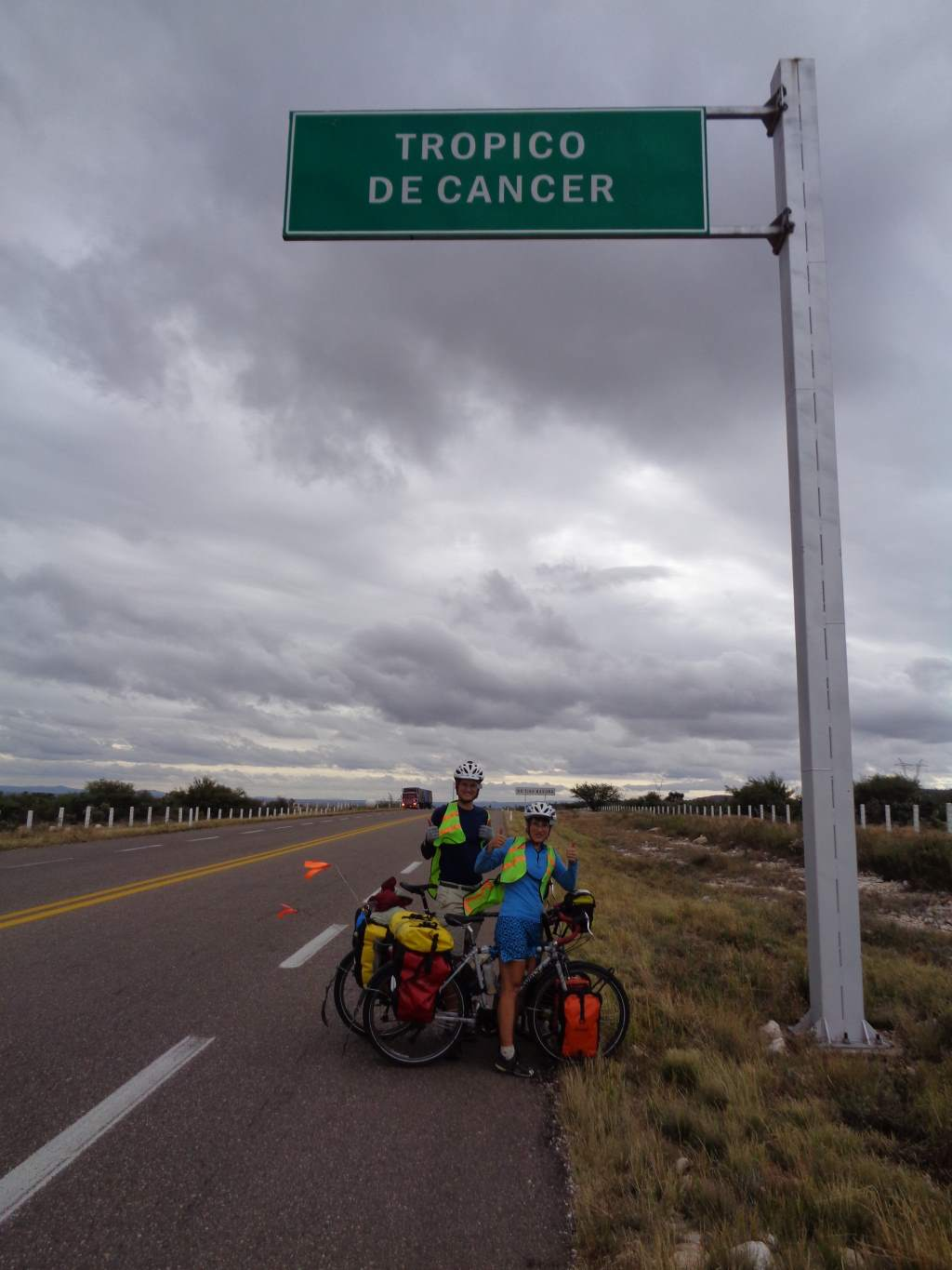 Another landmark: crossing the Tropic of Cancer, and going south this time!