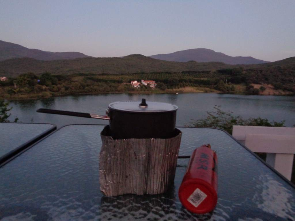 Cooking on top of Rodrigo's house - with a view!
