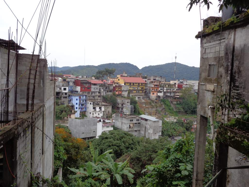 """The """"amazing"""" town of Xilitla. The bulidings are sketchy even for Mexican standards."""