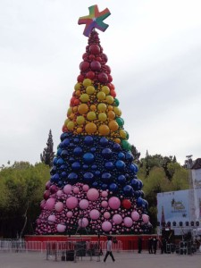 The celebrated Christmas tree in Pachuca