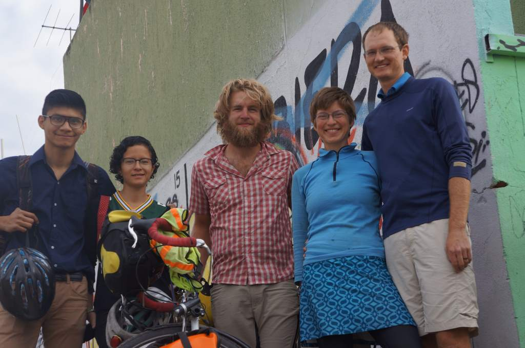 Us and our hosts in Leon: Fernando and Friday were wonderful.