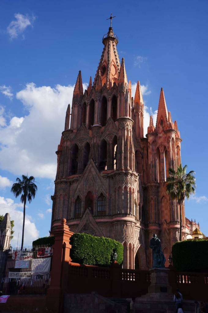 The main cathedral in San Miguel de Allende