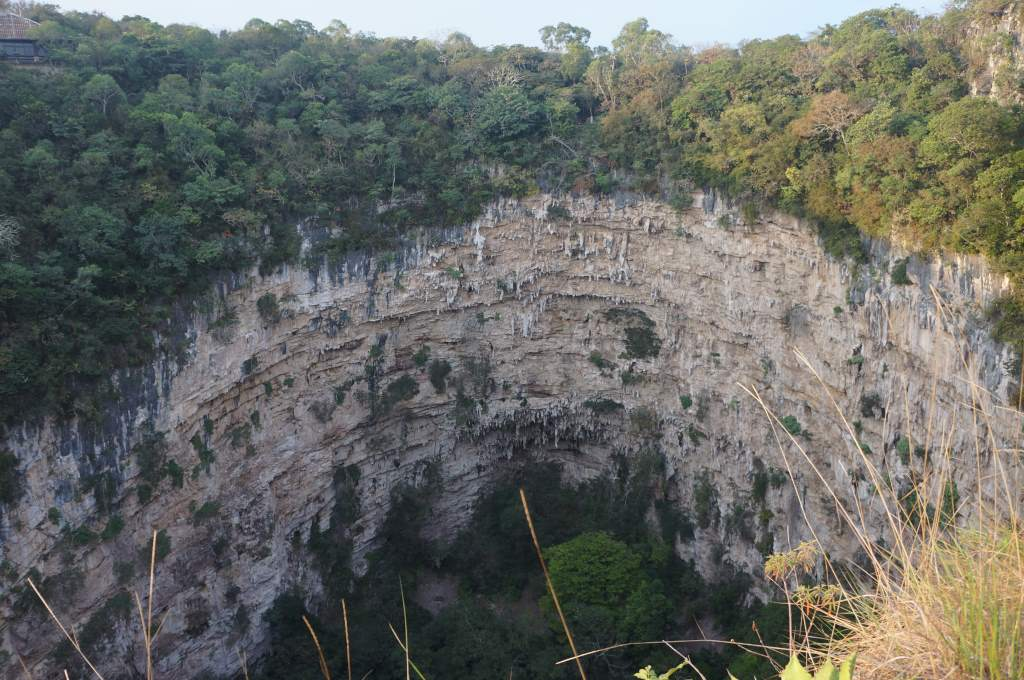 The Sima de los Cottoras (Sinkhole of the Parrots). Unfortunately for us, the birds migrated north in November so we didn't get to see the dramatic circular exit at sunrise. (On the other hand, we got to sleep in!)