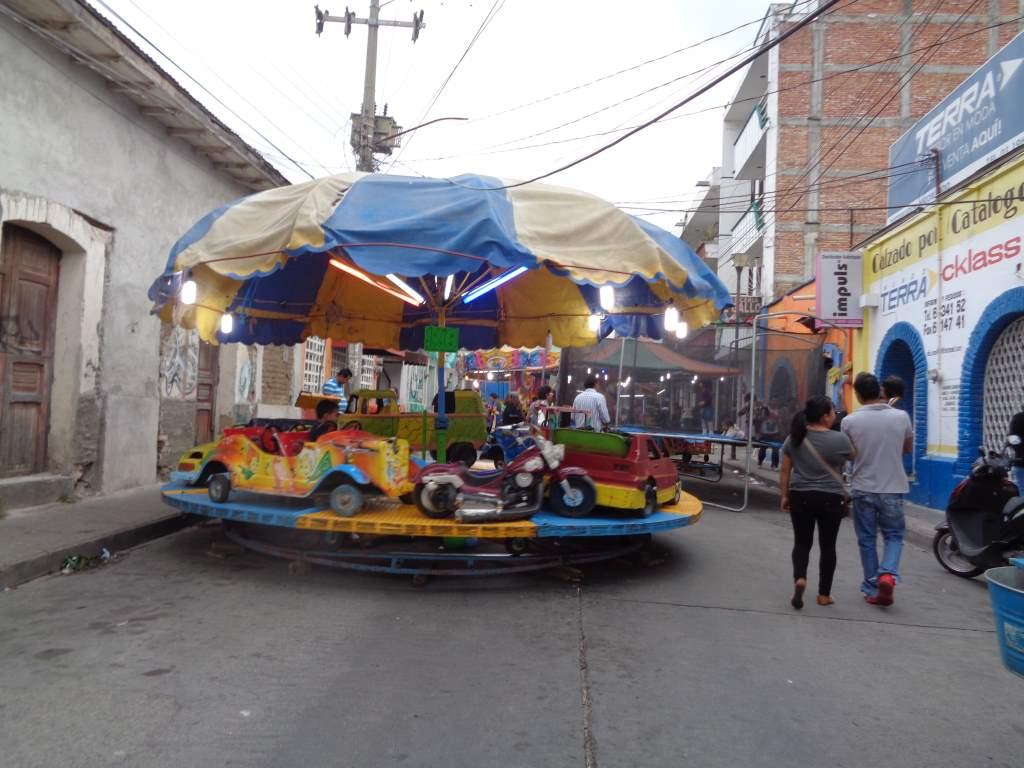 We were surprised to see carnival rides on some of the side streets!