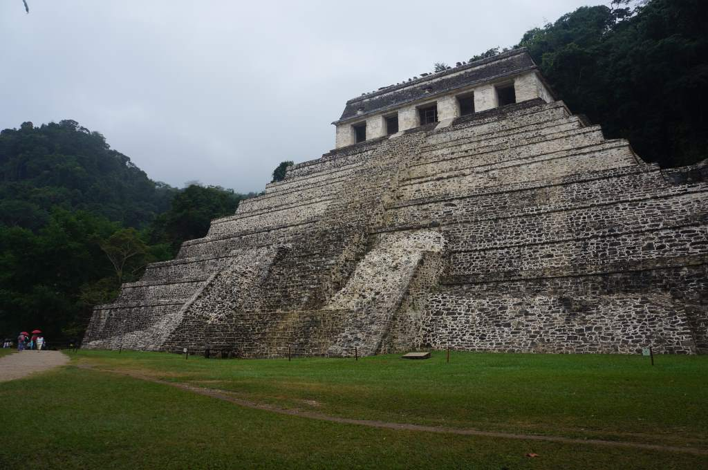 One of several large pyramids at Palenque