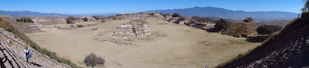 Monte Alban was perched at the top of a hill, where the original inhabitants had landscaped it to be a flat plateau.