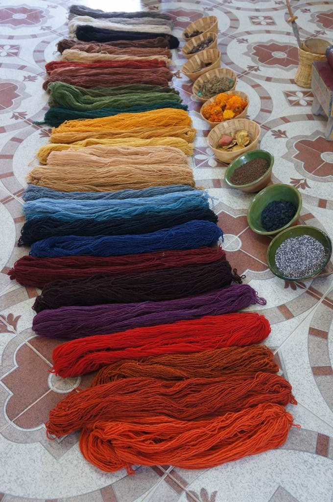 All the incredible colors they can make with naturally found dyes.