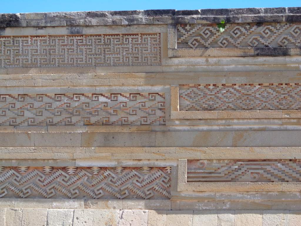 Some of the very impressive stonework in Mitla.
