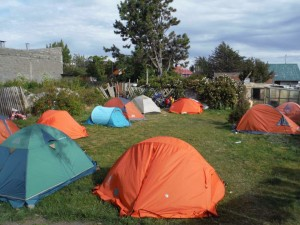 Campground in Puerto Natales.
