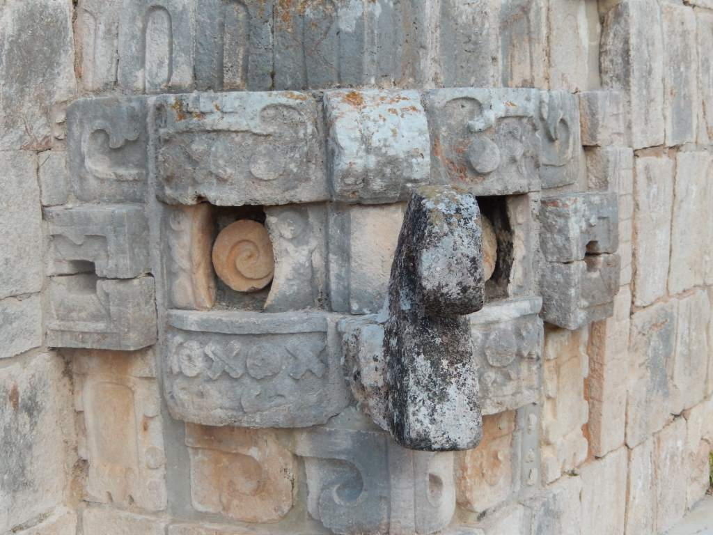 The carvings at Uxmal were exquisite