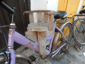 Child seat Mexican style.