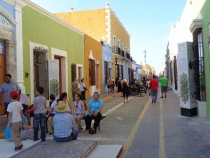 The painstakingly restored pastel streets of Campeche.