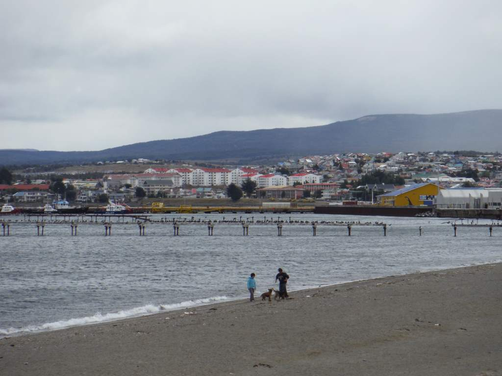 Punta Arenas has a lovely (if cold) waterfront.