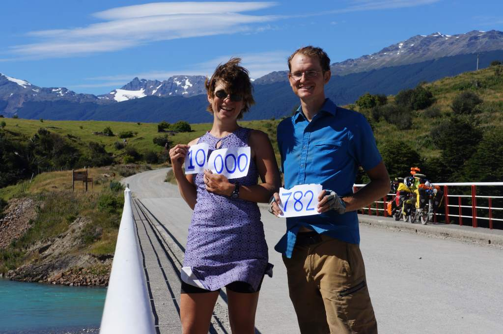 During this stretch we hit the 10,000 mile mark! And also 782 miles from Punta Arenas.