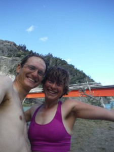 We enjoyed quick baths in the cold rivers to wipe off all the road dust.