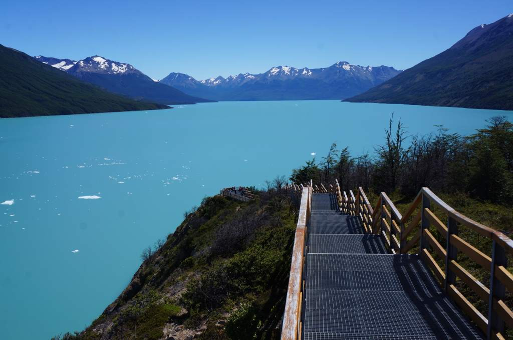 The blue of a glacial lake never ceases to impress.