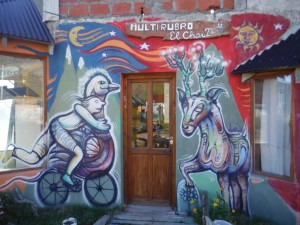 Outside of the Casa de Ciclistas.