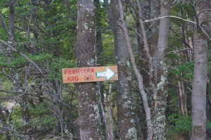 The sign that led us to the hiking trail.